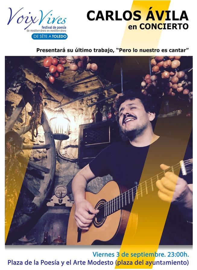 cartel concierto carlos ávila